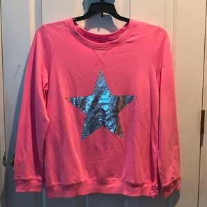 HARD CANDY! Pink sweatshirt w silver star 🌟 L